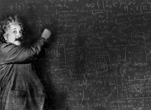 einstein and his blackboard